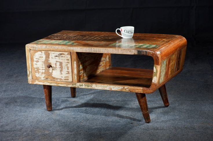 Very pretty #retro-vintage #coffee #table with lots of storage.