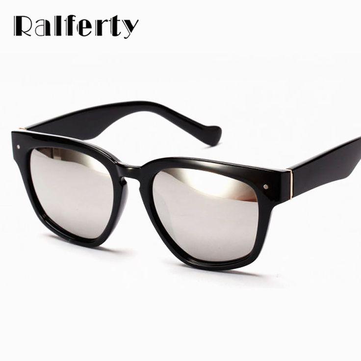 Ralferty Brand Designer Women Sunglasses Anti UV 400 Sun Protection Glasses Female Outdoor Mirrored Coating Glasses oculos 1539