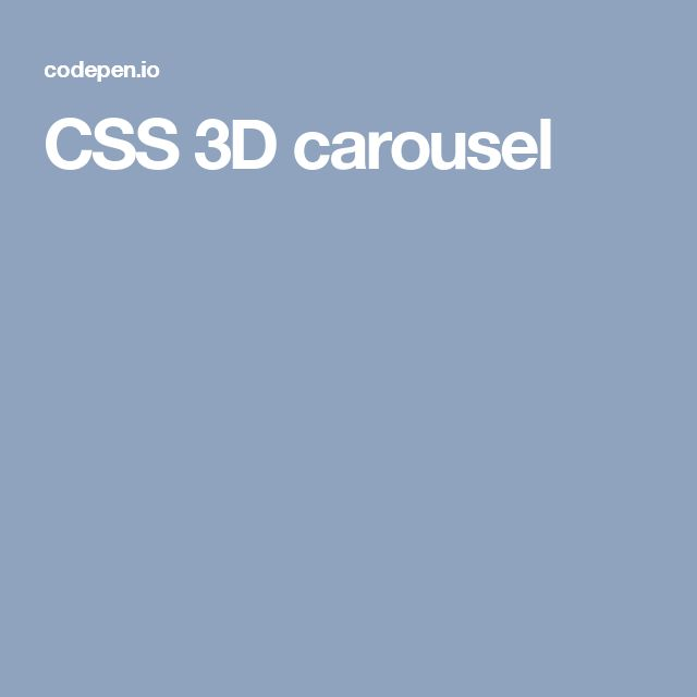 330 best css images on pinterest design web website designs and css 3d carousel malvernweather Choice Image