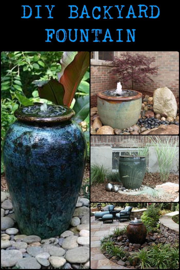 83 best water features images on pinterest a project for Simple water features for backyard