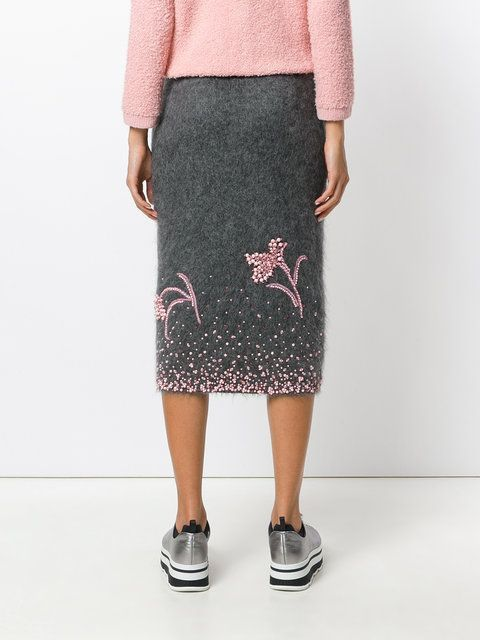 юбка с бусинами Prada юбки и их переделки вторая улица вышивка