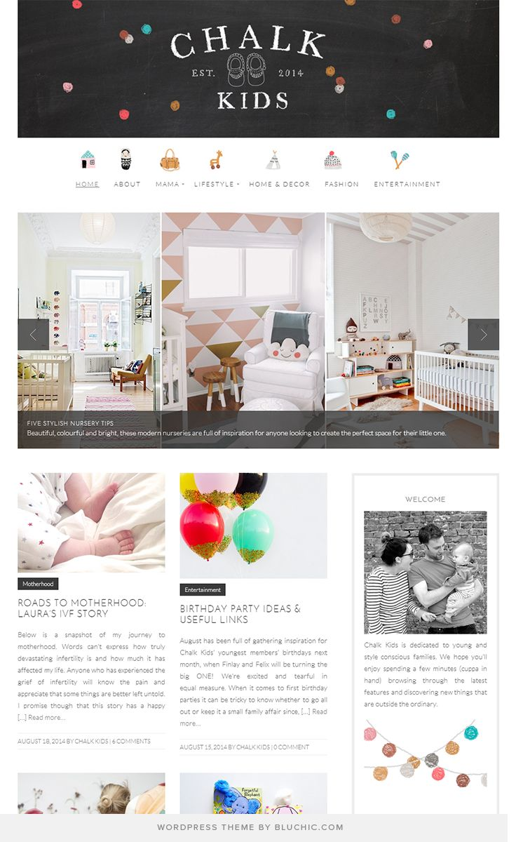 Loving The Fun Design Style Of This UK Parenting Lifestyle Blog Running On Easy