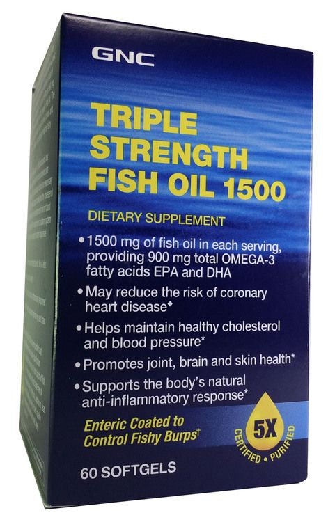 Gnc Triple Strength Fish Oil 1500 60 Softgels Fish Oil