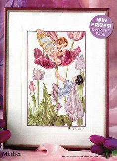 Flower Fairies Tulip Fairy The World of Cross Stitching Issue 140 August 2008  Saved