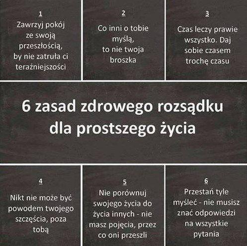 6 Zasad zdrowego rozsądku