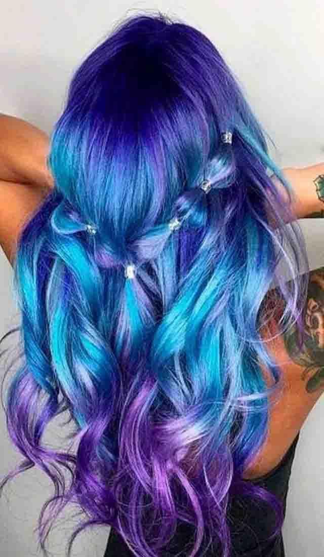 Blue And Purple Hair Color Hairminia Blue Ombre Hair Ombre Hair Color Purple Ombre Hair