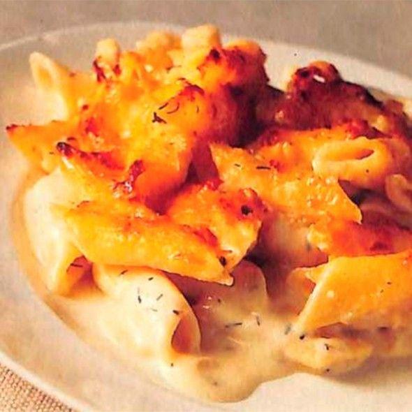 Four-cheese pasta gratin