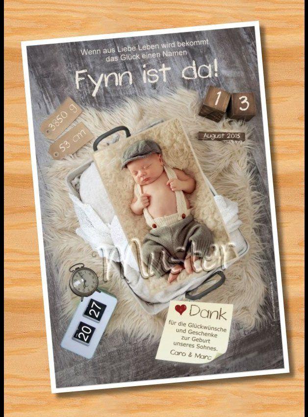 Originelle Geburtskarten Danksagungskarten Geburt