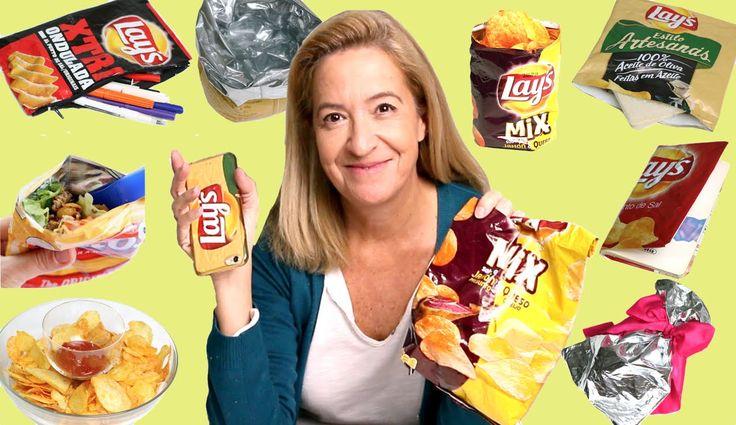 10 Life hacks con bolsas de patatas. Snack hacks for kids