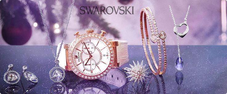 Negozio di Catalogo gioielli e collezioni Swarovski. Collezione uomo con cristalli e pietre preziose Swarovski. Creazioni e Orologi Swarovski. Consegna gratuita