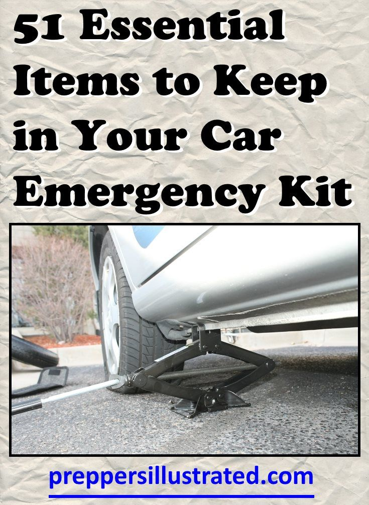 Car emergency kit items to never be without: http://preppersillustrated.com/1492/51-essential-items-car-emergency-kit/