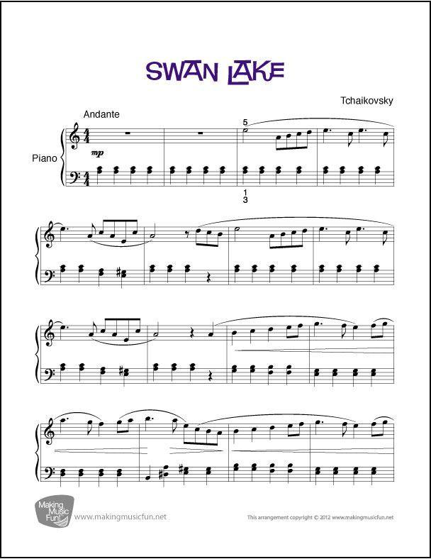 Swan Lake Sheet Music For Piano Digital Print Click Here For