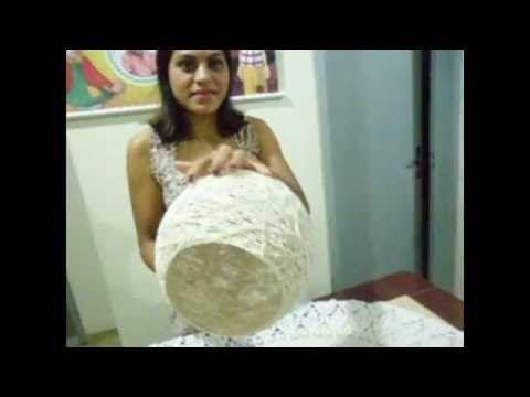Luminária de Barbante Lavável [PARTE 1] / Twine Lampshade / Lampara de Hilo DIY #14 - YouTube