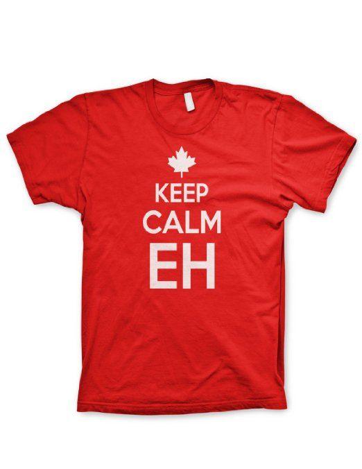 Amazon.com: Keep Calm eh shirt Chive on tshirt canada shirt funny tshirt Canadian NHL hockey: Clothing