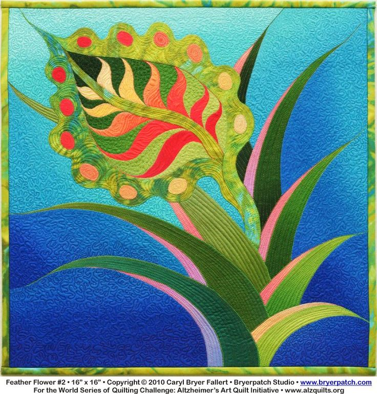Feather Flower #2  by Caryl Bryer Fallert