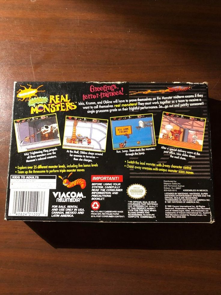 AAAHH Real Monsters (Super Nintendo Entertainment System, 1995)