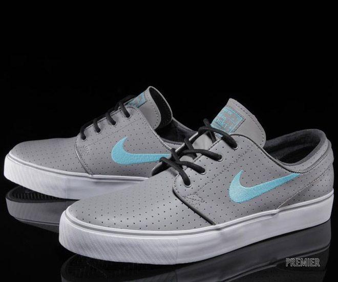 """Nike SB Stefan Janoski Low """"Perf"""" - Light Charcoal / Black - Gamma Blue"""