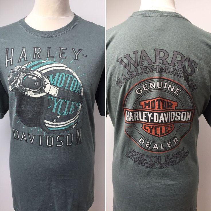 HARLEY DAVIDSON Mens Warr's South East London England T Shirt Size XL  | eBay
