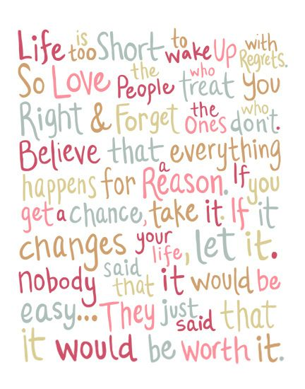 """No Regrets"" Quote Illustration"