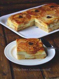 Tarta de piña con sobaos | Comparterecetas.com