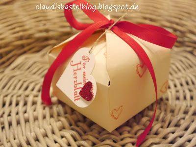 Für mein Herzblatt...steht auf dieser Verpackung in Glutrot gestempelt. Passend zum Valentinstag...