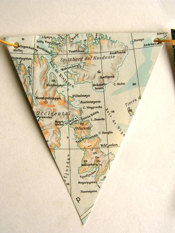 Flags made of maps
