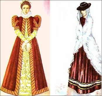 Итальянское возрождение женский костюм