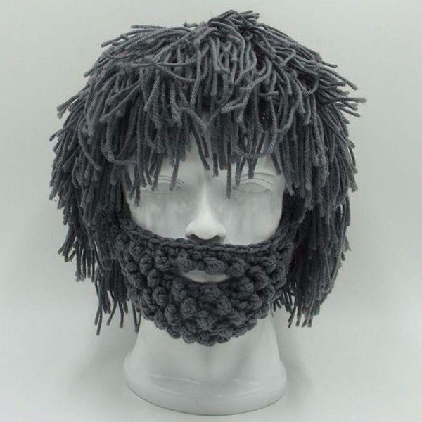 Men Women Knit Beanie Crochet Hat Scientist Wig Mustache Beret Cap Beard Mask in Clothing, Shoes, Accessories, Men's Accessories, Hats | eBay