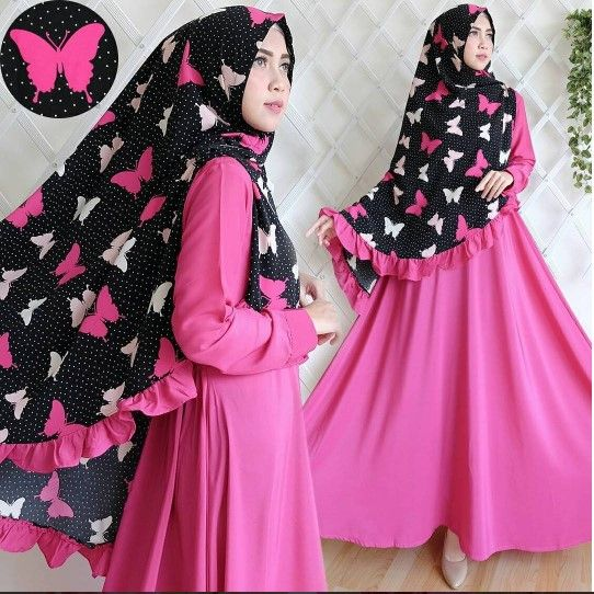 Gamis set 668 purple - ButikMuslim69.com