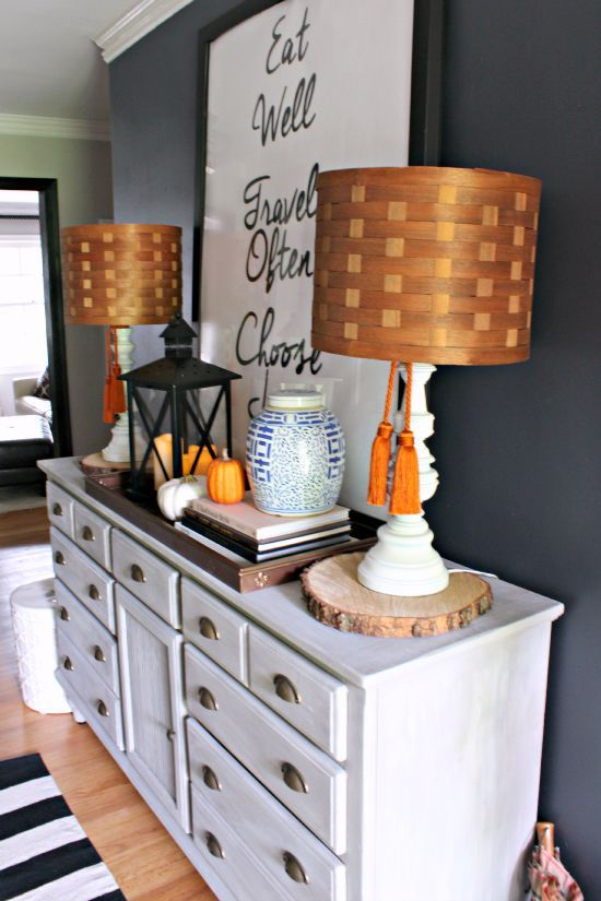 Navy and orange fall vignette