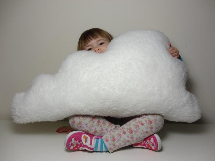 LARGE FLUFFY CLOUD Pillow Cushion White Faux Sheepskin