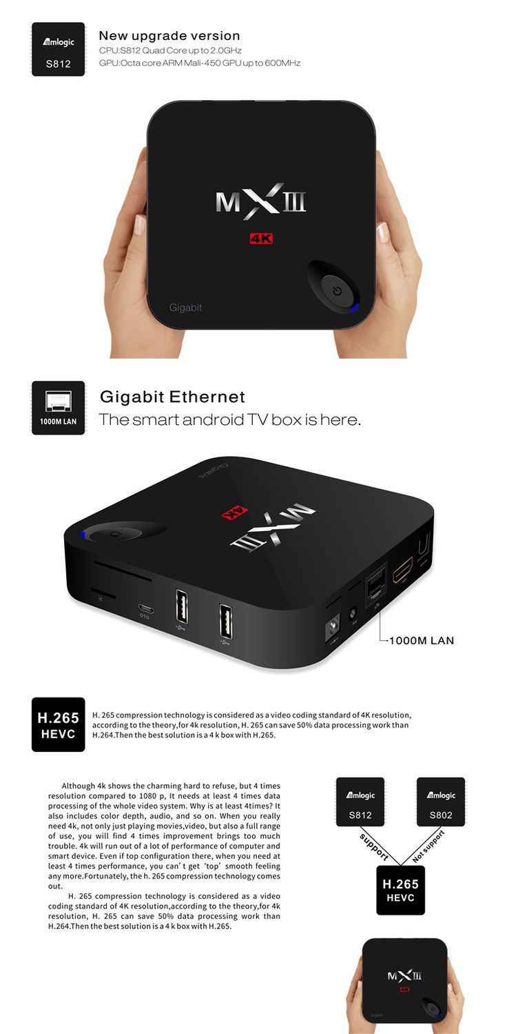 MXIII-G S812 2GB/8GB Android 5.1 1000M LAN Quad Core 4K x 2K H.265 Decoding 2.4G/5G WiFi Bluetooth 4.0 Kodi XBMC TV Box Android Mini PC Sale - Banggood.com