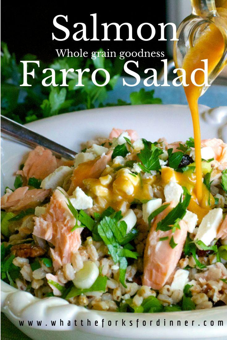 Whole grain goodness......farro, plus omega bonus.....salmon.........