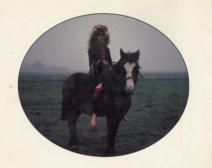 Vali Myers on a horse
