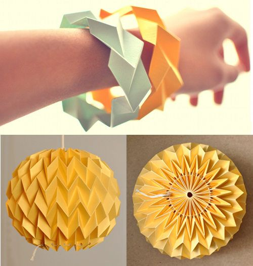 Fiber Lab designs her paper lamps from her studio in Vancouver, Canada. #paper #craft