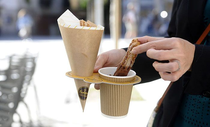 take away churros en la xocolateria de Oriol Balaguer