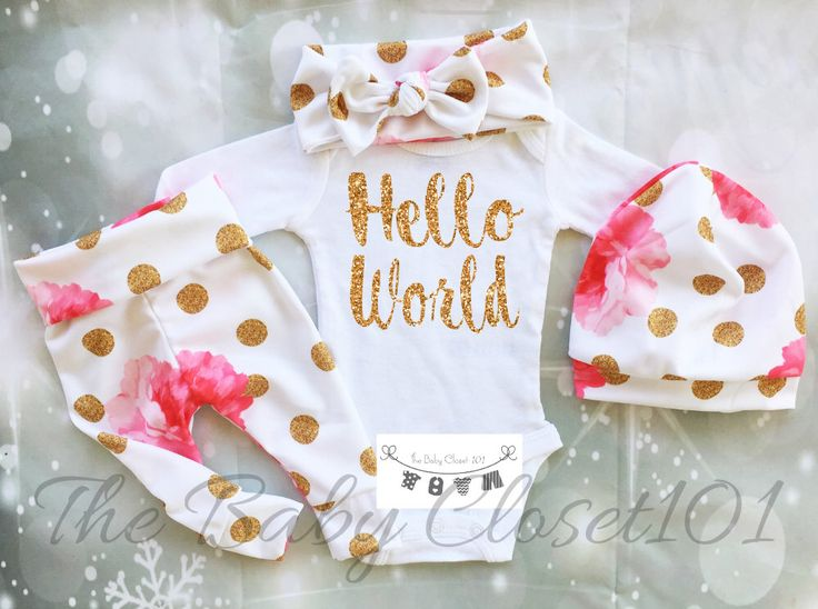Newborn Girl Coming Home Outfit,Girls Coming Home Outfit Set,Baby Girl,Hospital Outfit,Floral Baby Outfits,Flowers,Fabric NOT REAL GLITTER by thebabycloset101 on Etsy https://www.etsy.com/listing/498498778/newborn-girl-coming-home-outfitgirls