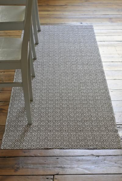Plastic woven rug in Swedish traditional pattern - Practical Things - Scandinavian Interiors