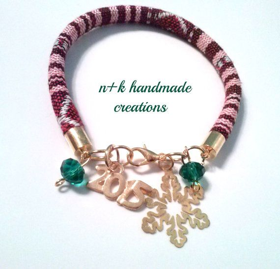 Handmade Christmas ethnic bracelet. by thenkcreations on Etsy