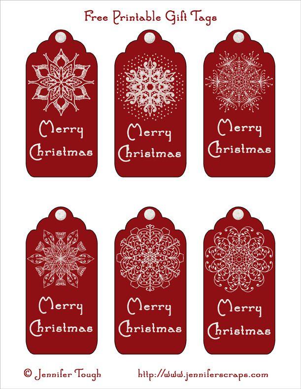Free Printable - Merry Christmas Gift Tags
