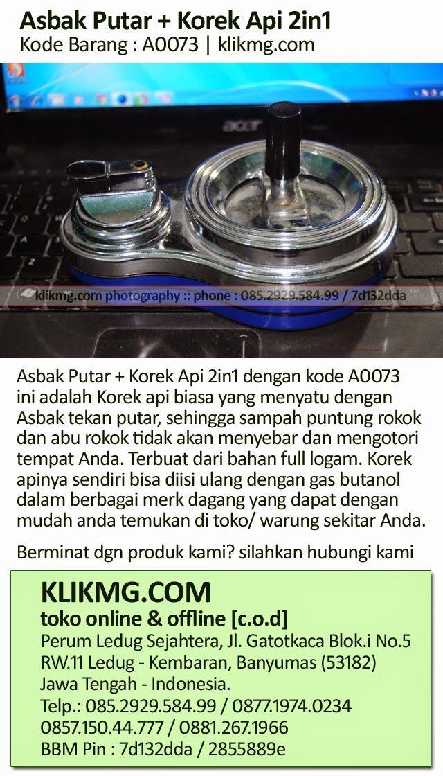 blog.klikmg.com - Fotografer Indonesia: Asbak Putar + Korek Api 2in1 - Kode Barang : A0073