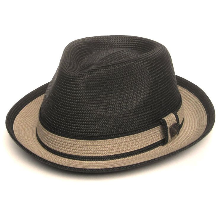 Dasmarca-Retro-Grossier-Garcon-Raynor-paille-trilby-chapeau-Pork-Pie-charbon-de-bois