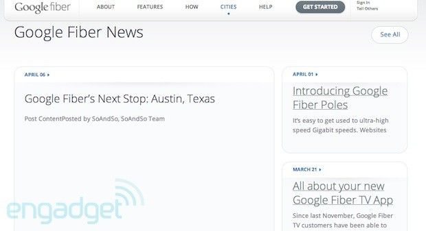 Rumors suggest Austin, Texas is next up for a Google Fiber rollout (update: so does its website)