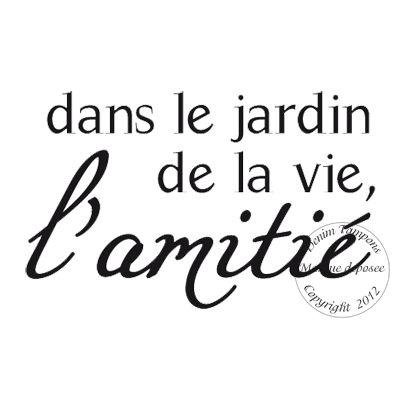 Texte : TAMPON DANS LE JARDIN DE LA VIE par Sophie