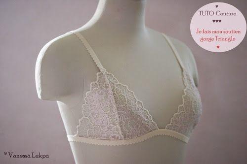 tuto couture : Faire sa lingerie , soutien gorge triangle