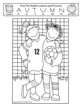 "Fall Activity Coloring Pages  This ""Hidden Letters-Pictures"" activity is part of a four page set of printables perfectly suited for the season!"