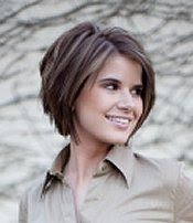 inverted bob/ chunky ...love this hair cut, but prob works better on thicker hair...bummer