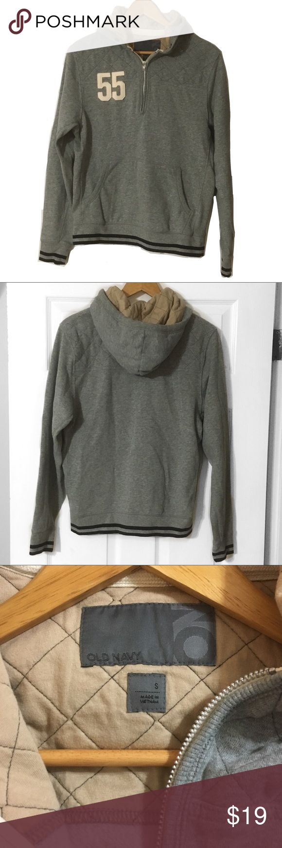 Old Navy 1/4 zip hoodie 1/4 zip hoodie, Old Navy. Size S. Used condition. Shoulders and inside hood is quilted. Old Navy Shirts Sweatshirts & Hoodies