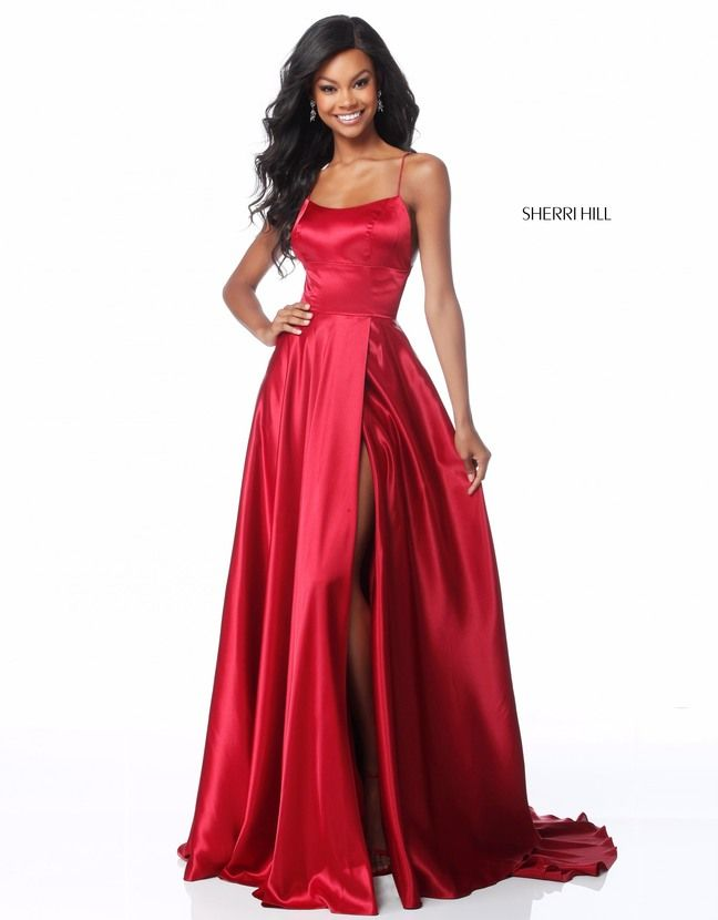 e39251fb2069 Buy Sherri Hill 51631 Lace-Up Back Formal Gown with Slit today at  MadameBridal.