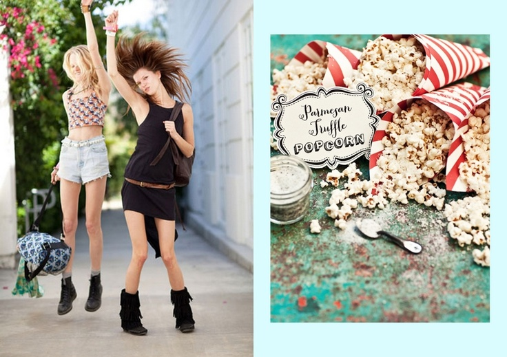 Hanne Gaby Odiele and Kasia Struss via Harpers Bazaar // Butterscotch Peanut Popcorn at What Katie Ate